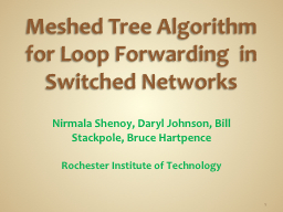 Meshed Tree Algorithm for Loop PowerPoint PPT Presentation