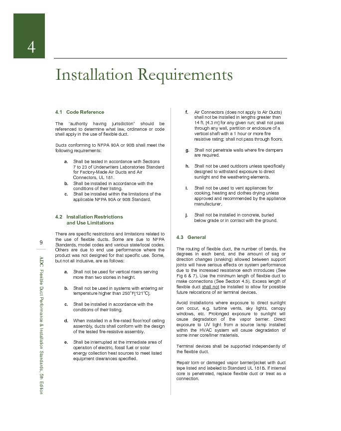 Installation Requirements . . . continued 4.7.3 Installation Instructi
