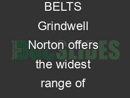 COATED ABRASIVES COATED ABRASIVE BELTS Grindwell Norton offers the widest range of Coated Abrasive Belts for the industry