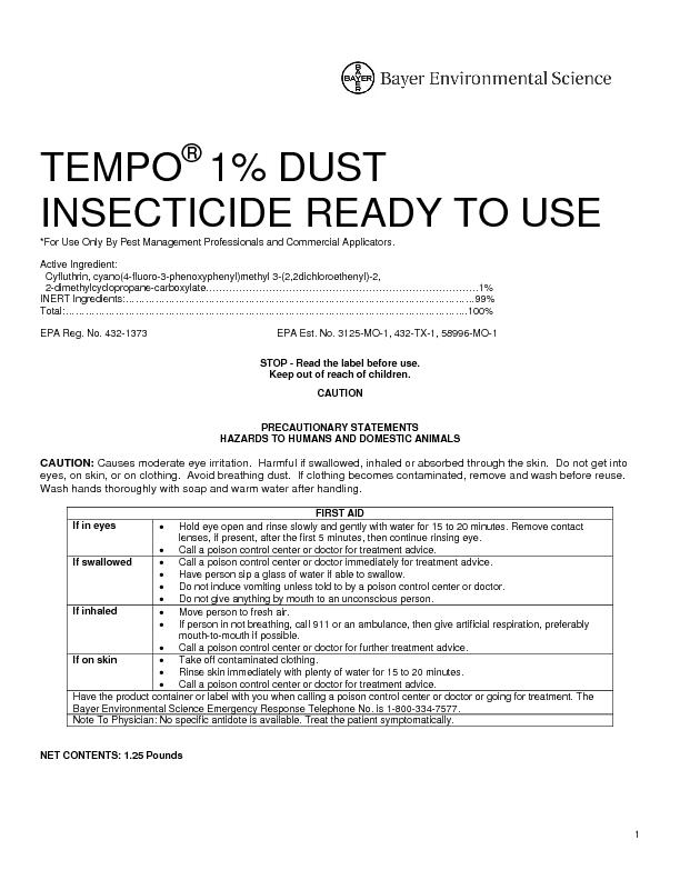 *For Use Only By Pest Management Professionals and Commercial Applicat