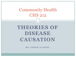Theories of disease causation