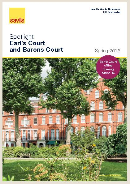 Earl's Court and Barons CourtSavills World Research UK Residentia