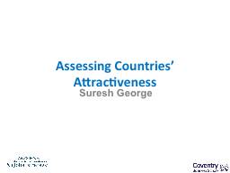 Assessing Countries' Attractiveness