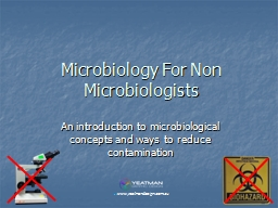 Microbiology For Non Microbiologists