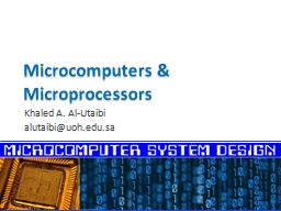 Microcomputers & Microprocessors PowerPoint PPT Presentation