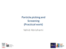 Particle picking and