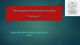 Diagnostic Microbiology Laboratory PowerPoint PPT Presentation
