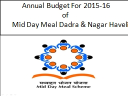 Annual Budget For 2015-16 PowerPoint PPT Presentation