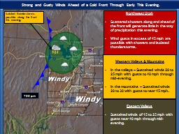 Strong and Gusty Winds Ahead of a Cold Front Through Early