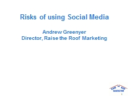 Risks of using Social Media