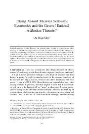 UCP PHOS article   Taking Absurd Theories Seriously Economics and the Case of Rational Addiction Theories Ole Rogeberg yz Rational addiction theories illustrate how absurd choice theories in economi