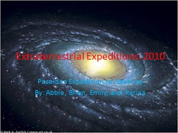 Extraterrestrial Expeditions: 2010