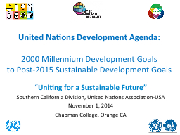 United Nations Development Agenda: