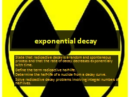 exponential decay PowerPoint PPT Presentation