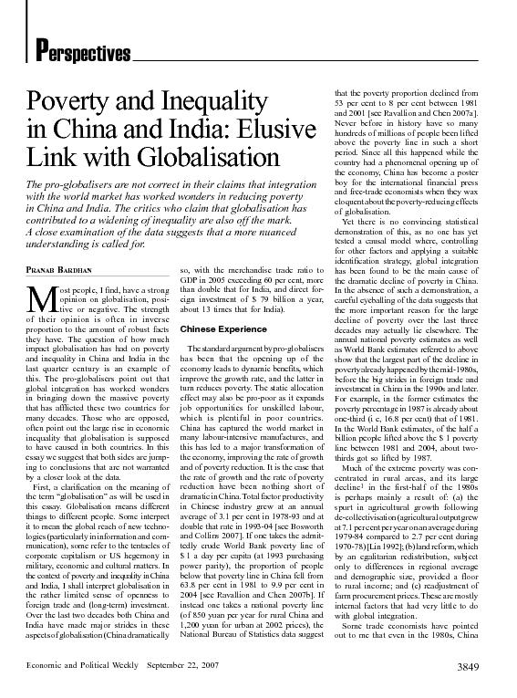 Economic and Political WeeklySeptember 22, 2007