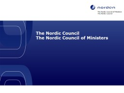 The Nordic Council of Ministers