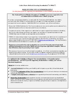 Accom Request Form   United States Medical Licensing Examination USMLE REQUEST FOR TEST ACCOMMODATIONS Use this form if you are requesting accommodations on USMLE for the first time The National Boar