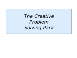 The Creative PowerPoint PPT Presentation