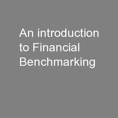 An introduction to Financial Benchmarking