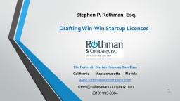 The University Startup Company Law Firm