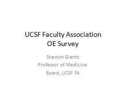 UCSF Faculty Association PowerPoint PPT Presentation