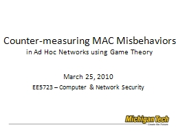 Counter-measuring MAC Misbehaviors