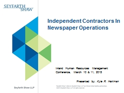 Independent Contractors PowerPoint PPT Presentation