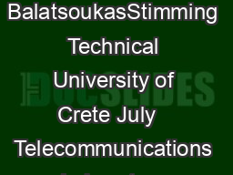 RepeatAccumulate Codes Telecommunications Laboratory Alex BalatsoukasStimming Technical University of Crete July   Telecommunications Laboratory TUC RepeatAccumulate Codes July       Outline RepeatAc