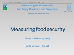 Measuring Food Insecurity