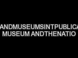 EVERYWHEREOLDERANDMUSEUMSINTPUBLICATIONBYAUSTRALIAN MUSEUM ANDTHENATIO
