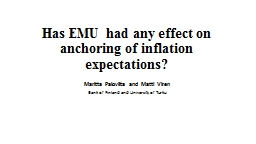 Has EMU had any effect on anchoring of inflation expectatio