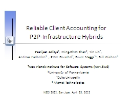 Reliable Client Accounting for