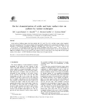 Carbon    On the characterization of acidic and basic surface sites on carbons by various techniques ab a a M