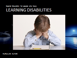 L LEARNING DISABILITIES PowerPoint PPT Presentation