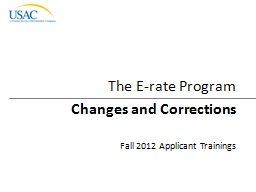 Changes and Corrections