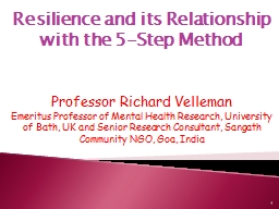 Resilience and its Relationship with the 5-Step