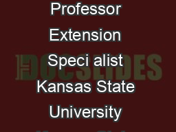 Robin Reid Mykel Taylor  Extension Associate Assistant Professor Extension Speci alist Kansas State University Kansas State University Kansas State University          robinreidk state