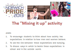 """The """"Mixing it up"""" activity"""
