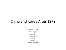 China and Korea After 1279 PowerPoint PPT Presentation