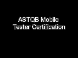 ASTQB Mobile Tester Certification