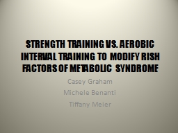 STRENGTH TRAINING VS. AEROBIC INTERVAL TRAINING TO MODIFY R