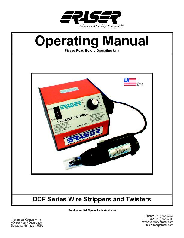 DCF Series Wire Strippers and Twisters