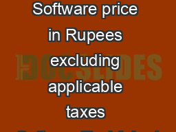 A XBRL File Preparation Software price in Rupees excluding applicable taxes SoftwareTool Adept