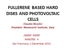 FULLERENE BASED HARD DISKS AND PHOTOVOLTAIC CELLS