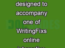 This writers handout was designed to accompany one of WritingFixs online interactive writing prompts