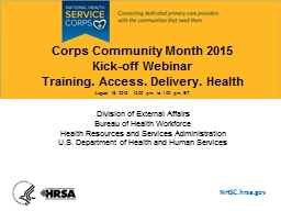 Corps Community Month 2015