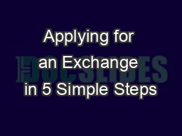 Applying for an Exchange in 5 Simple Steps
