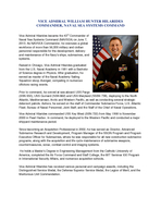 VICE ADMIRAL WILLIAM HUNTER HILARIDES COMMANDER NAVAL SEA SYSTEMS COMMAND ice Admiral Hilarides became the  rd Commander of Naval Sea Systems Command NAVSEA on June   As NAVSEA Commander he oversees