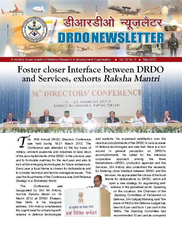 A monthly house bulletin of Defence Research & Development Organisatio