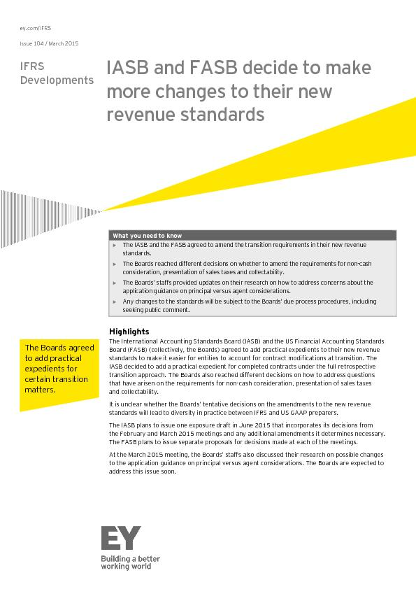 ey.com/IFRS Issue 104 / March 2015